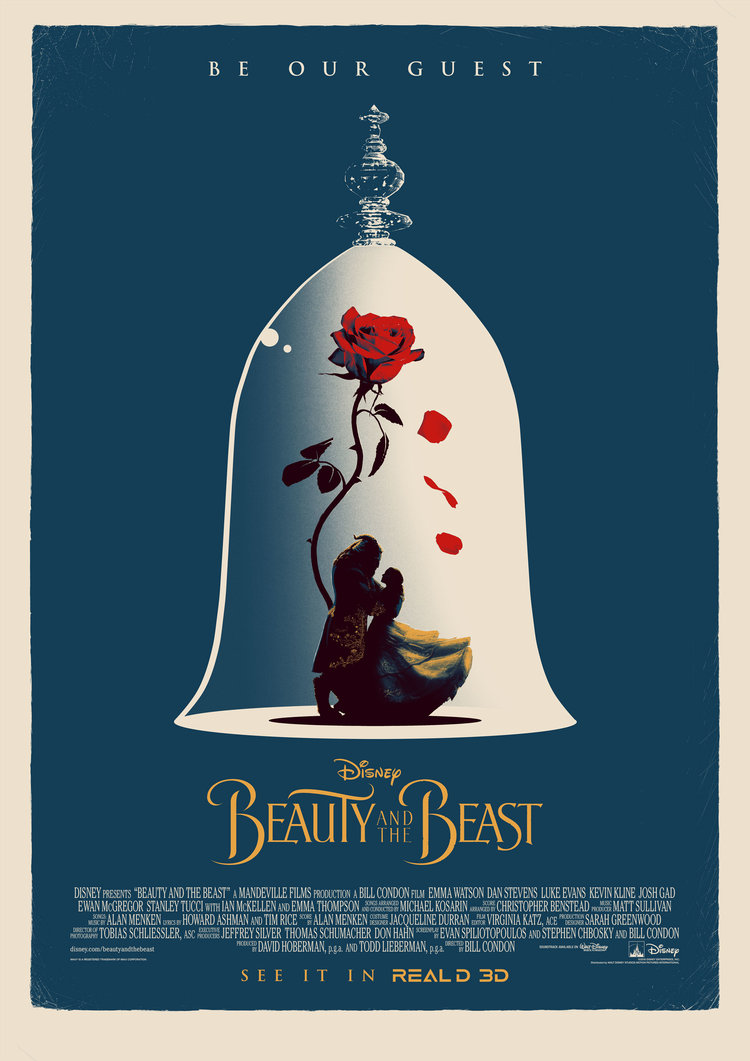 movie poster illustration beautybeast