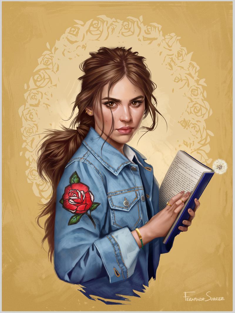 digital art portraits belle