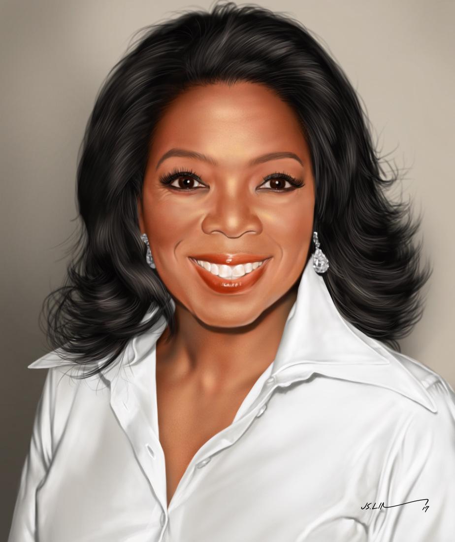 digital painting art oprah winfrey