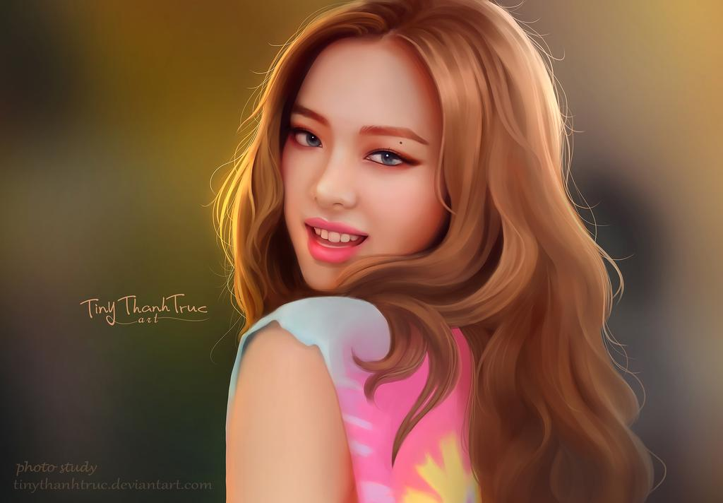 digital painting jennie kim blackpink