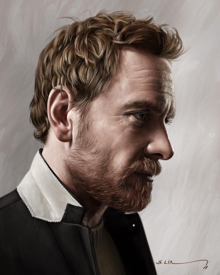 digital painting art michael fassbender