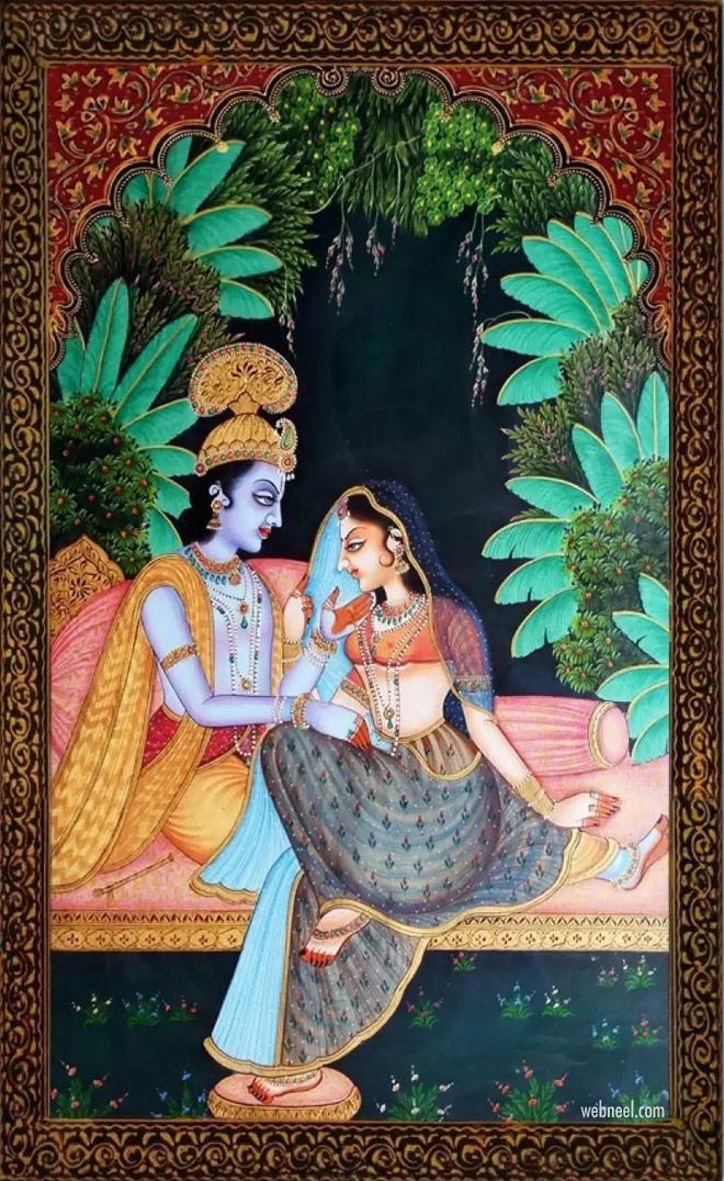 rajasthani painting krishna radha artwork by mmenterprises28