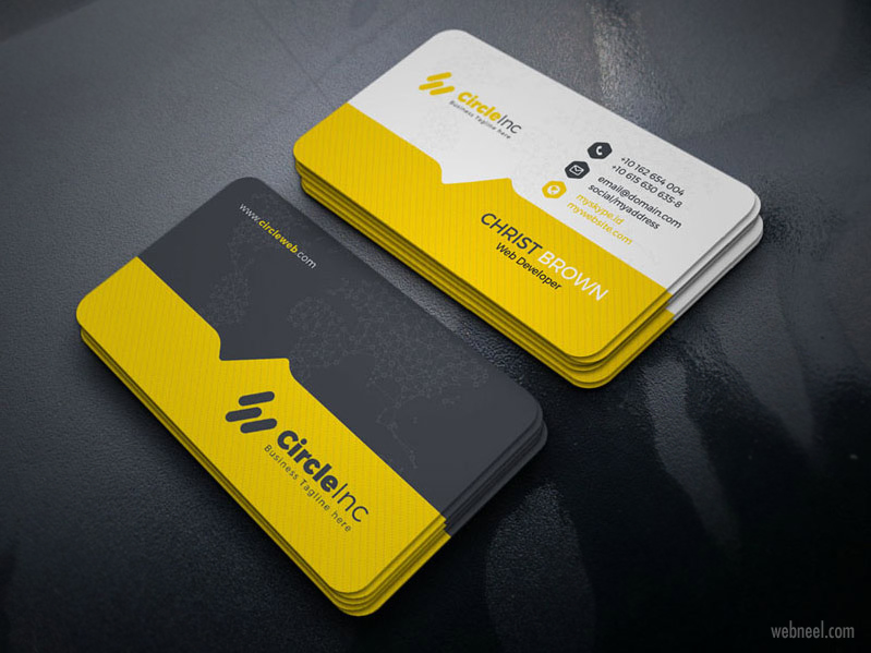 corporate business card design by yasin arafat