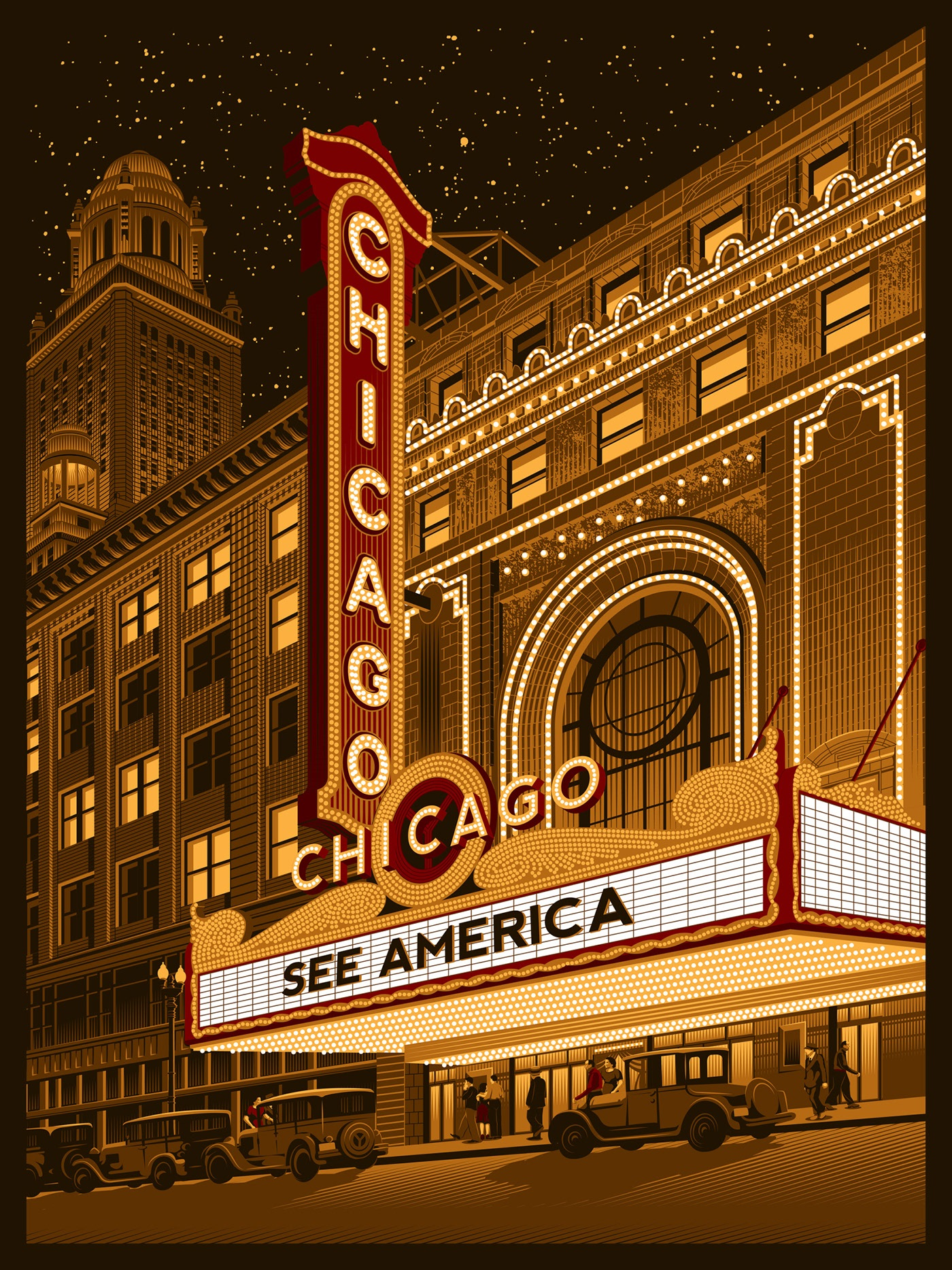 poster design portrait illustration chicago