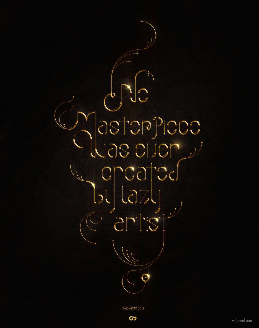 typography design idea by cyprian malinowski