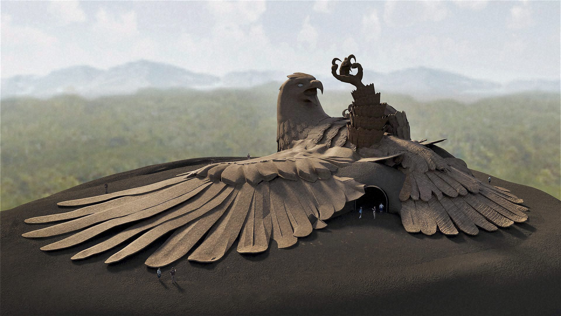 jatayupura large bird sculpture kerala