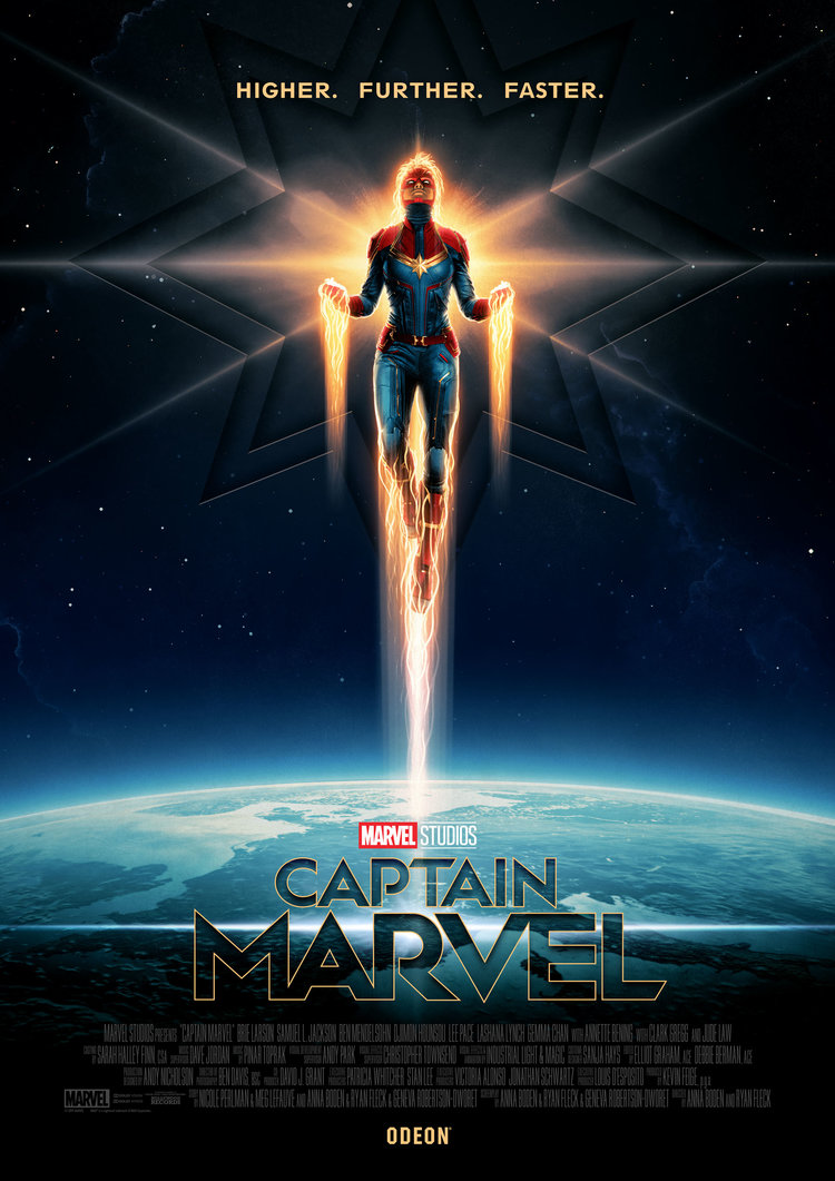 movie poster illustration captain marvel by matt ferguson