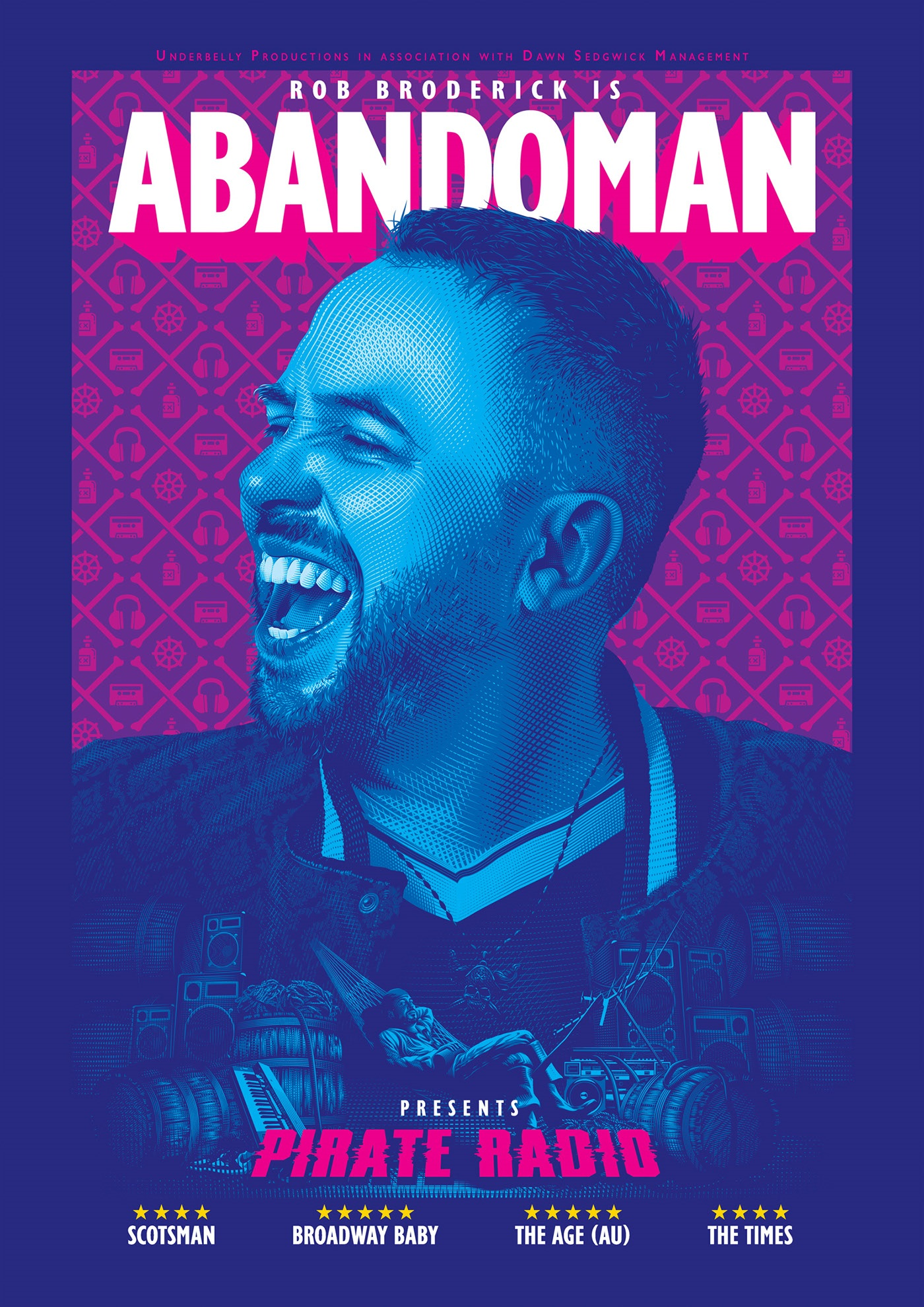 poster design portrait illustration abandoman