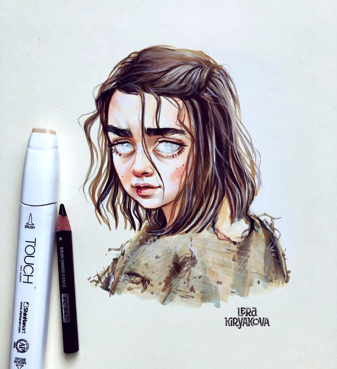 drawing portrait arya