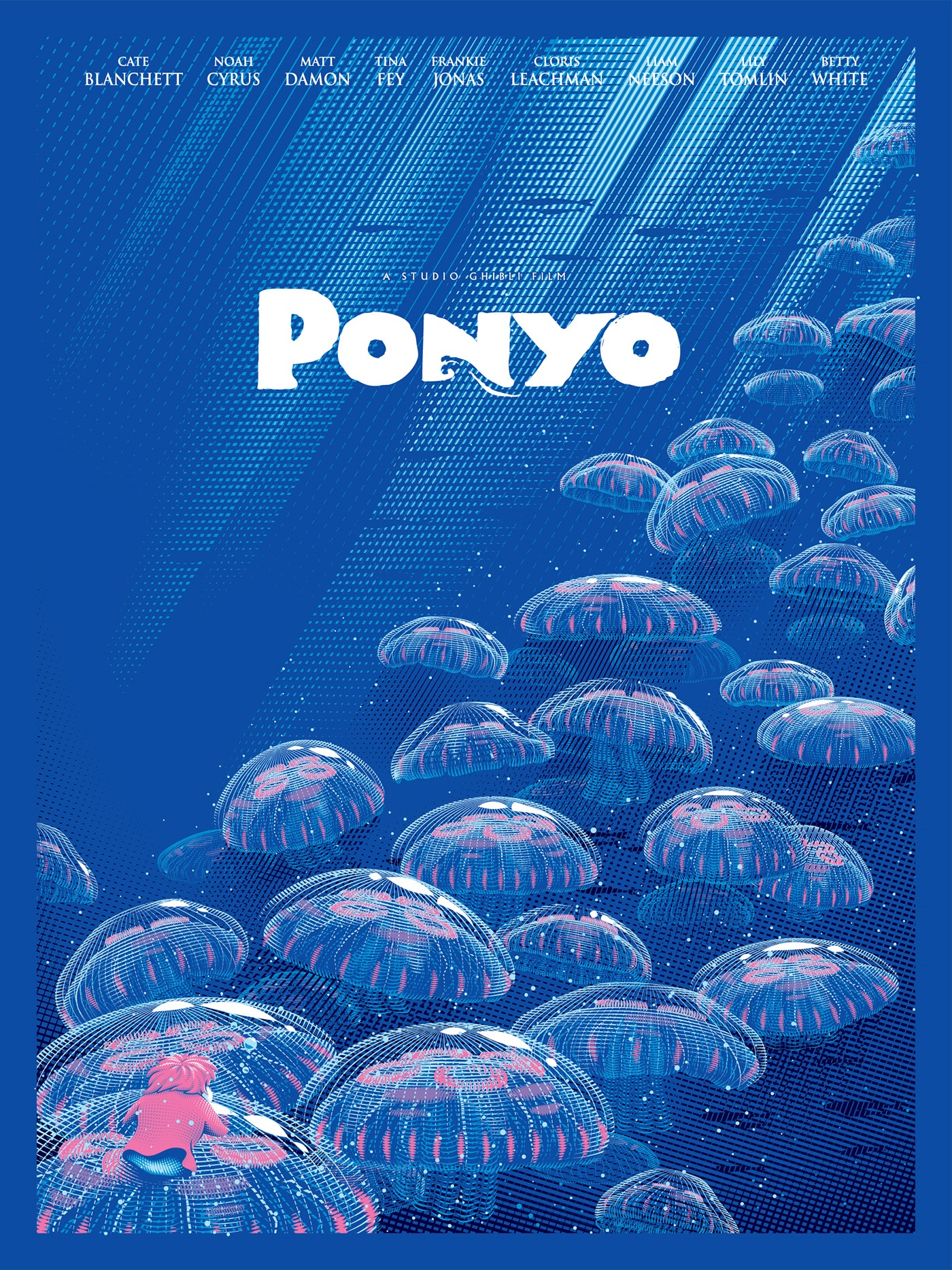 poster design portrait illustration ponyo