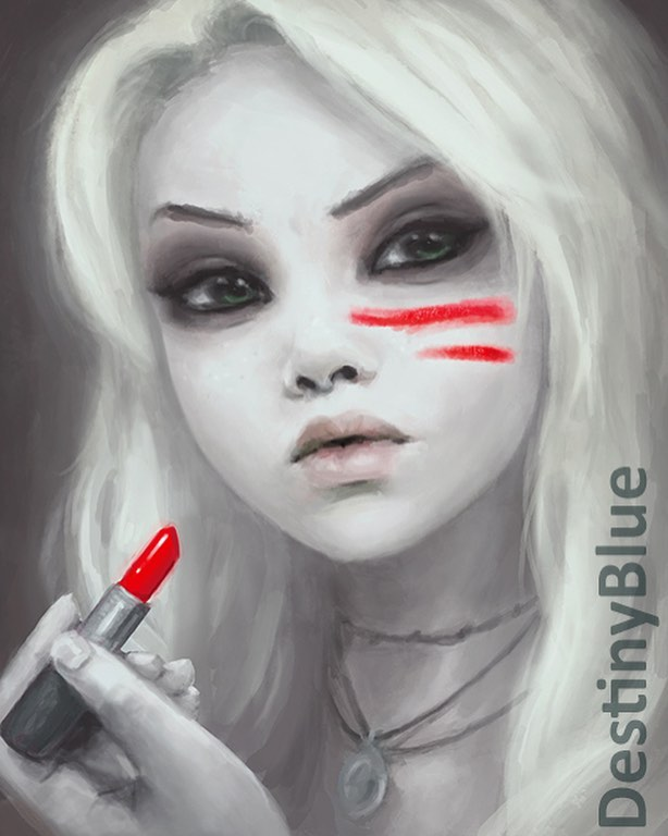 digital art lipstick by destinyblue