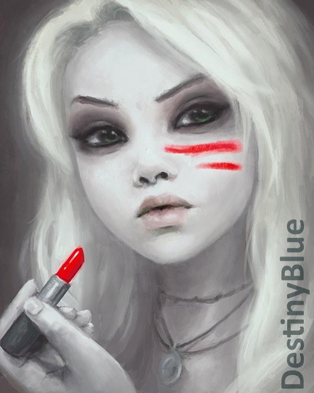 digital art lipstick
