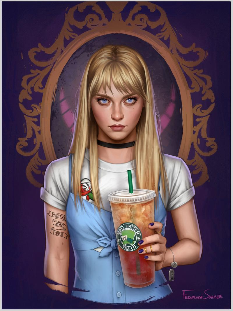 digital art portraits alice by fdasuarez