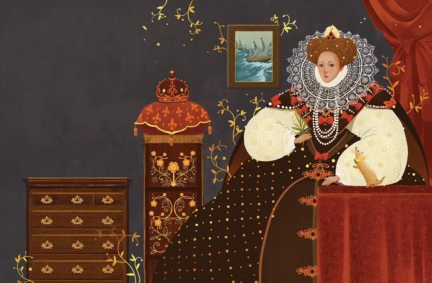 digital illustration art queen elizabeth1 by kaa