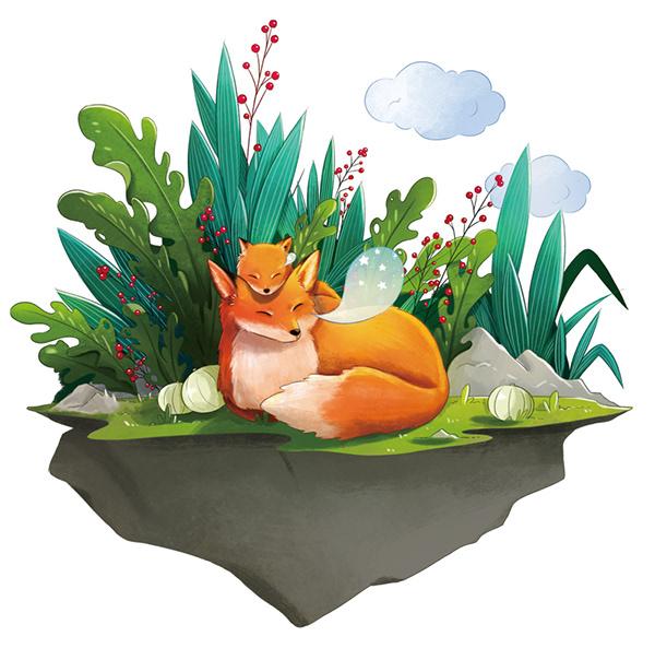 painting fox by pollyanna cao