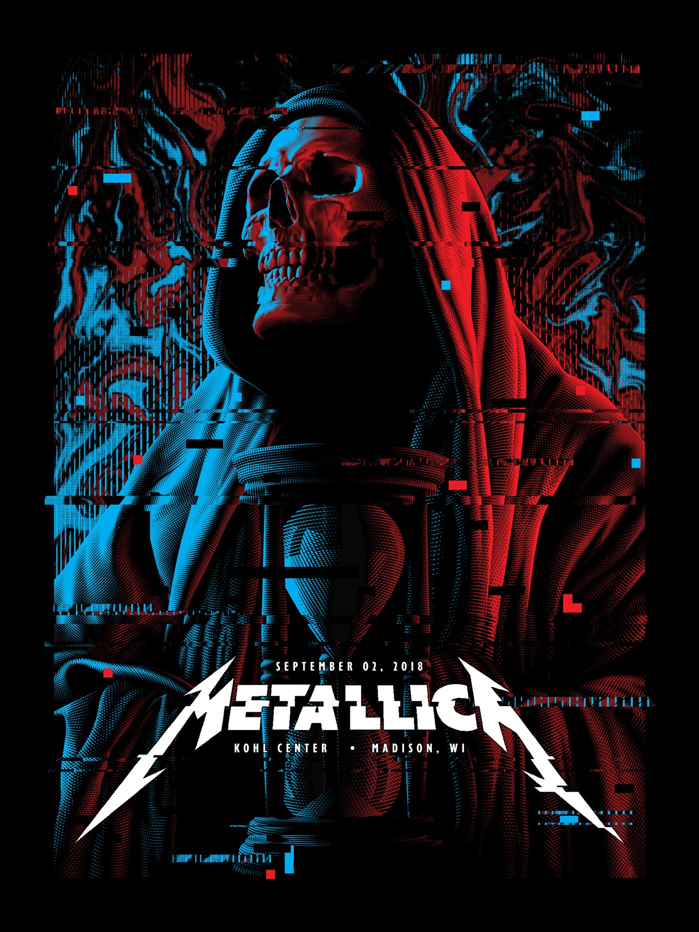 poster design portrait illustration metallica