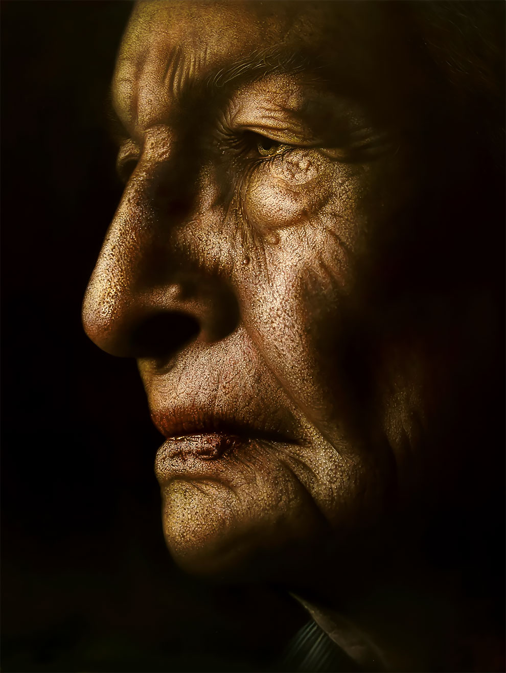 realistic paintings face by kamalky laureano