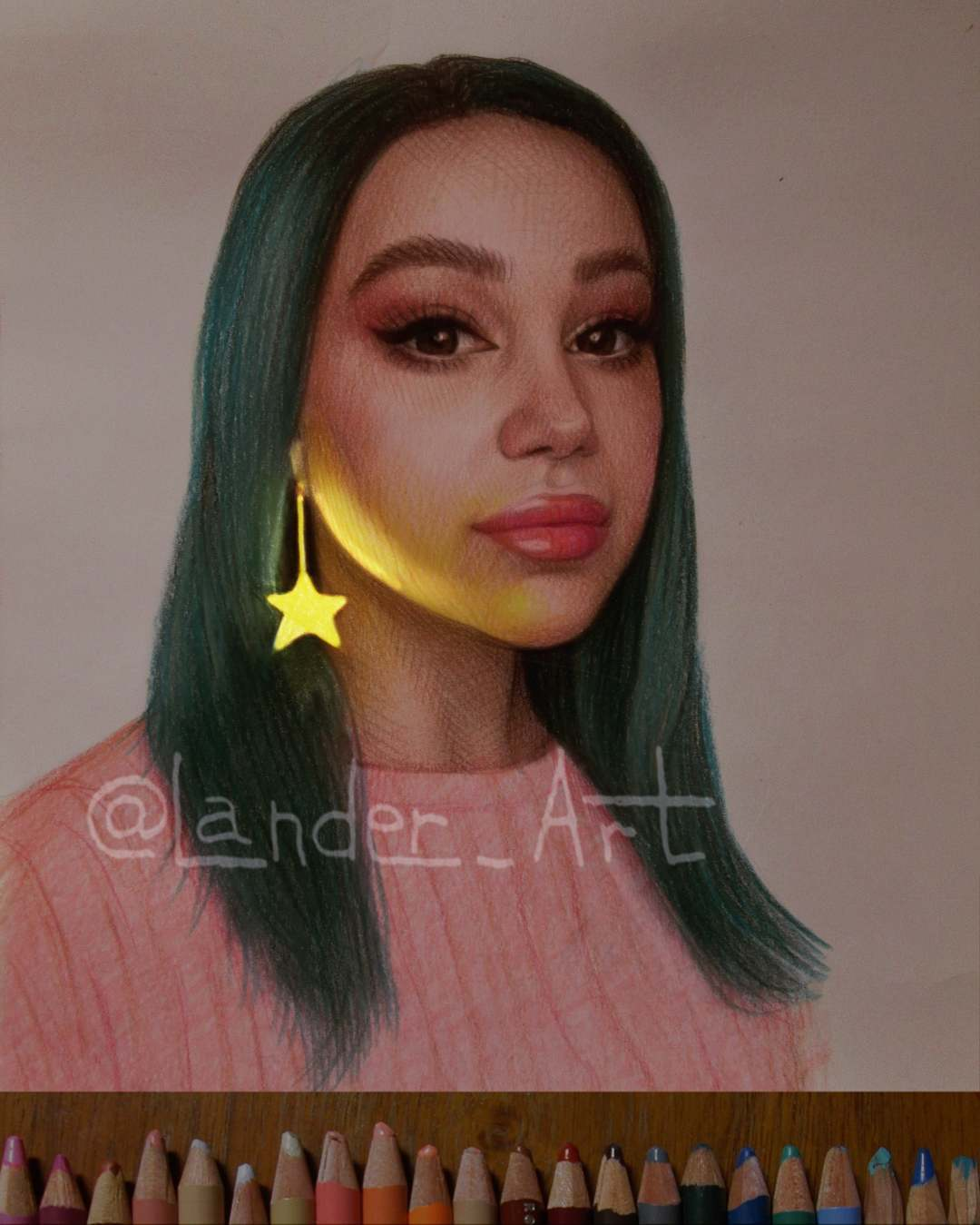 color pencil drawing star