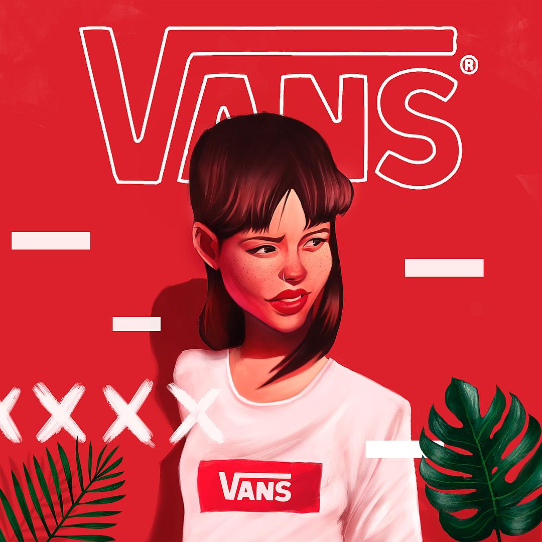 digital illustration art vans by leo natsume