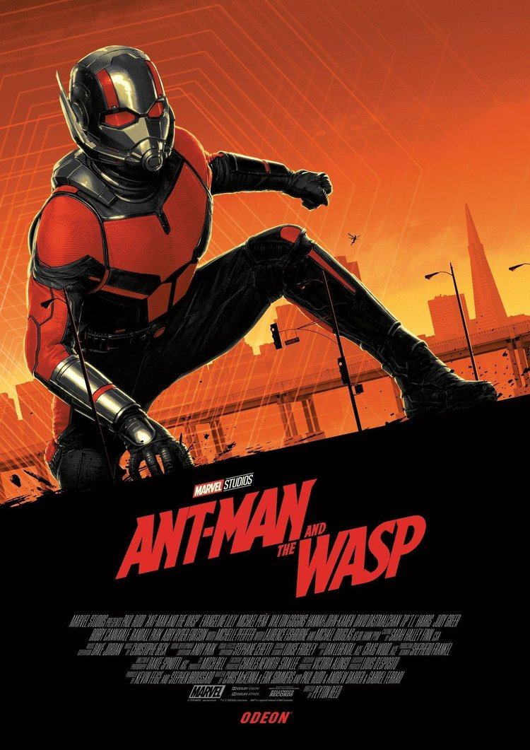 movie poster illustration ant man