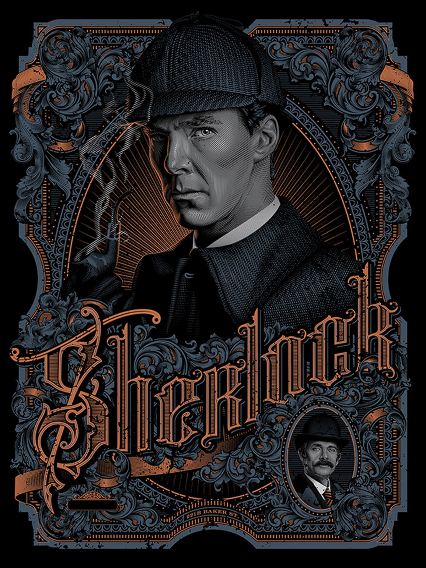 poster design portrait illustration sherlock