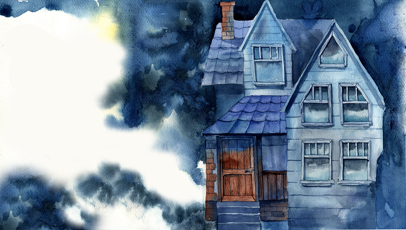 watercolor painting editorial house
