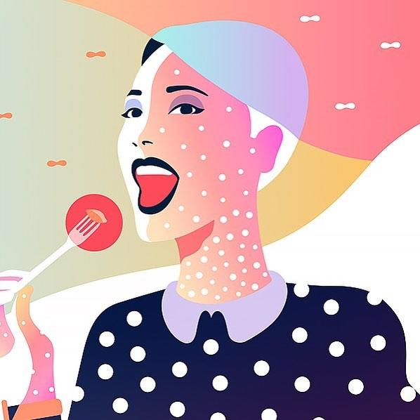 digital illustration art food by leo natsume