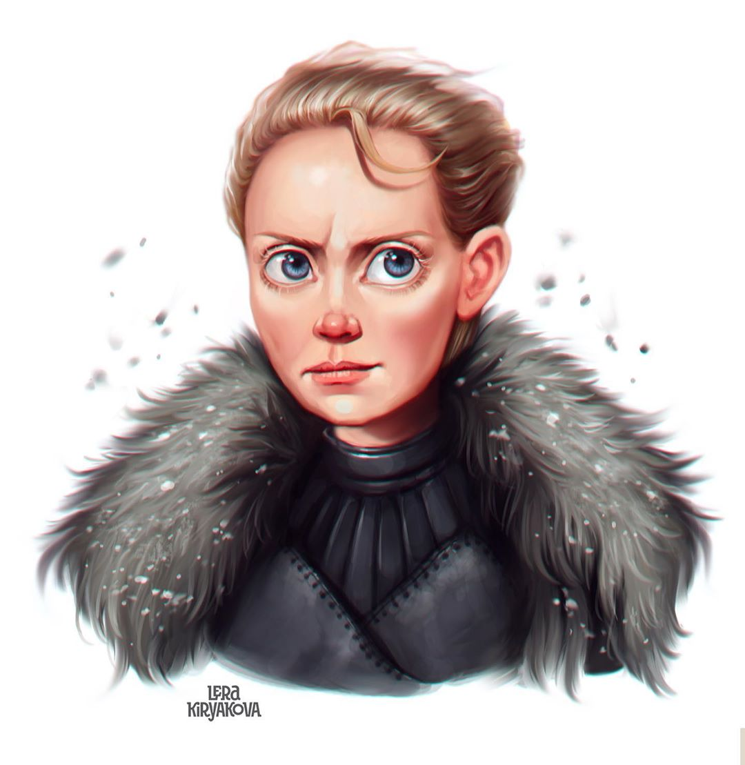 drawing portrait brienne by lera kiryakova
