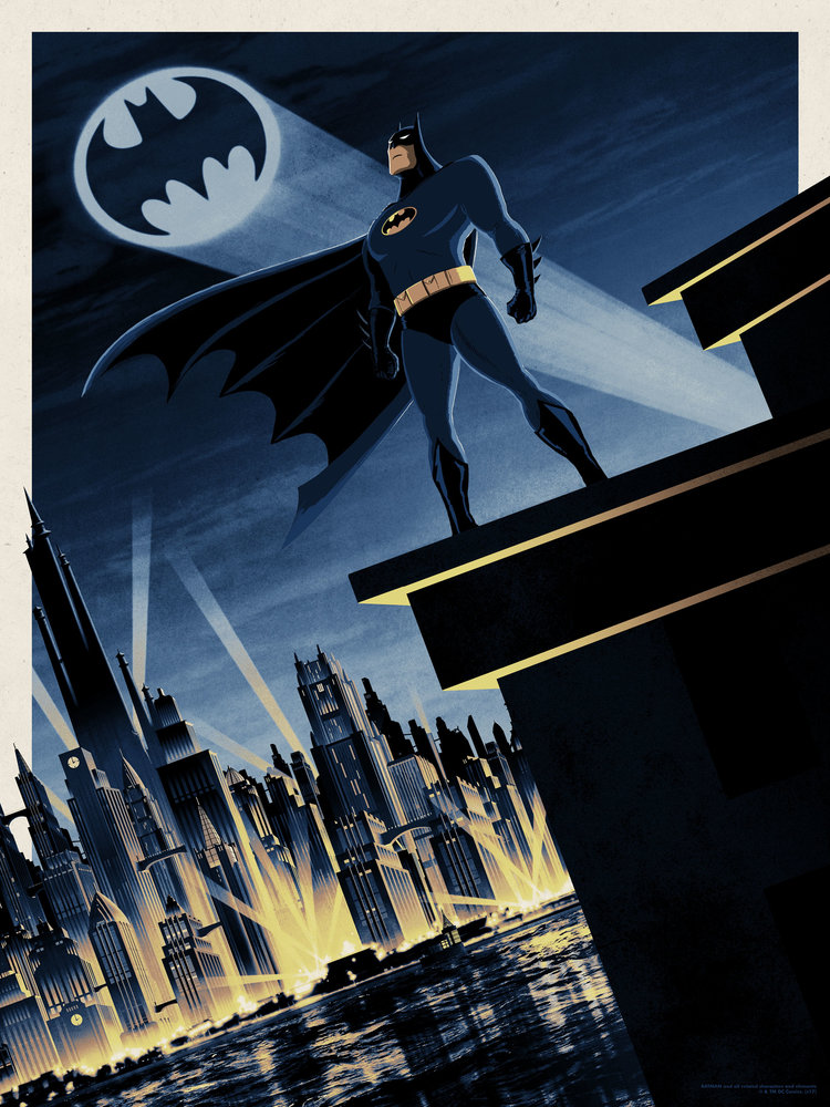 movie poster illustration batman
