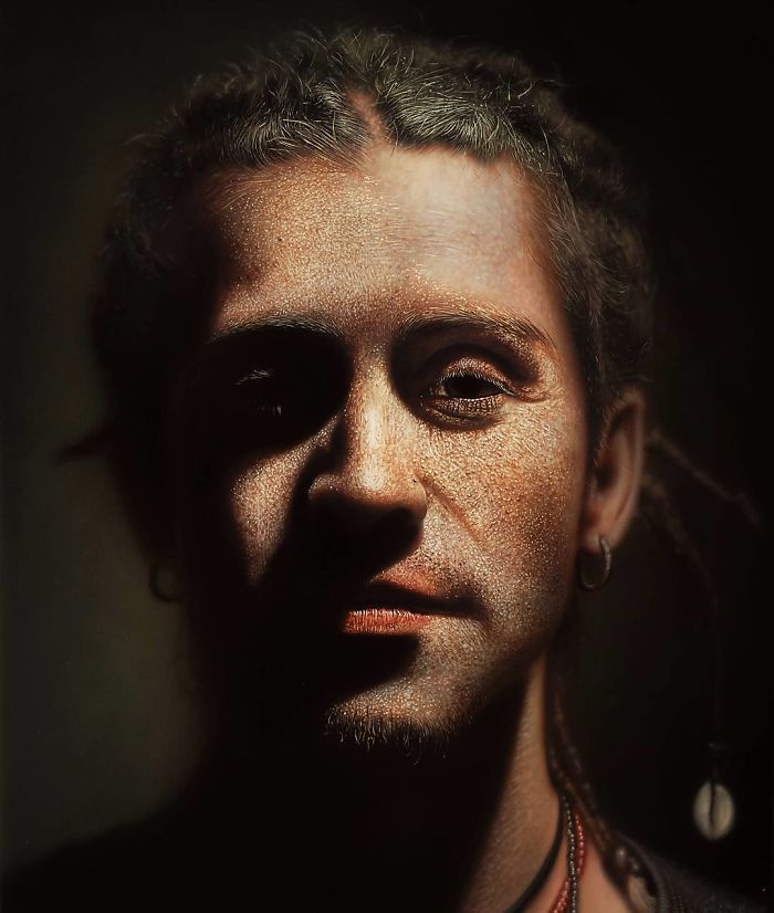 realistic paintings portrait by kamalky laureano