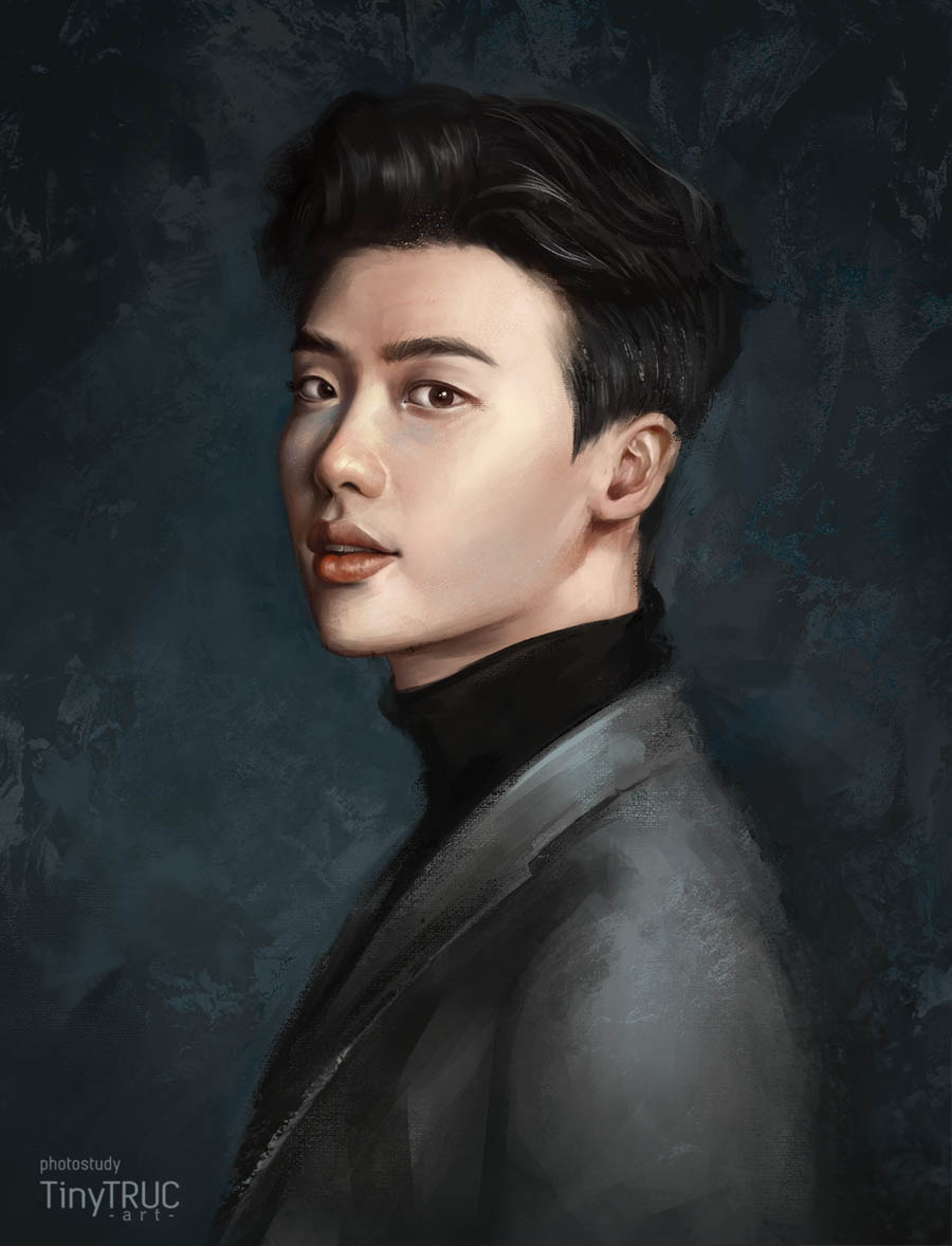 digital painting lee jong suk