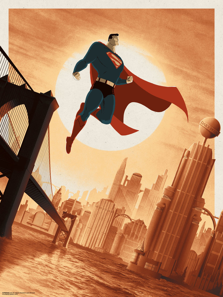 movie poster illustration superman by matt ferguson