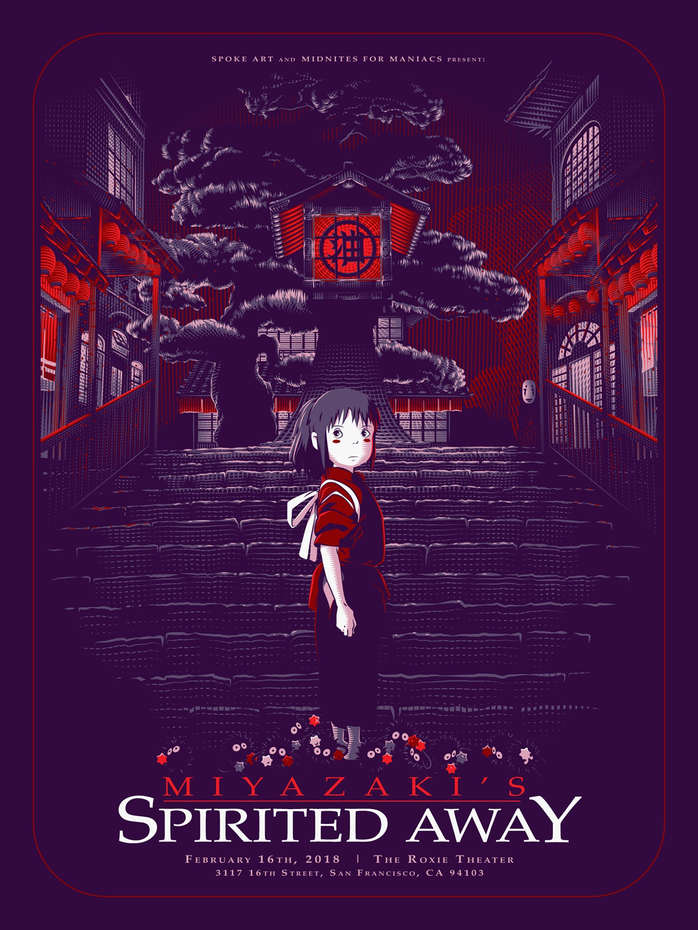 poster design portrait illustration spiritedaway