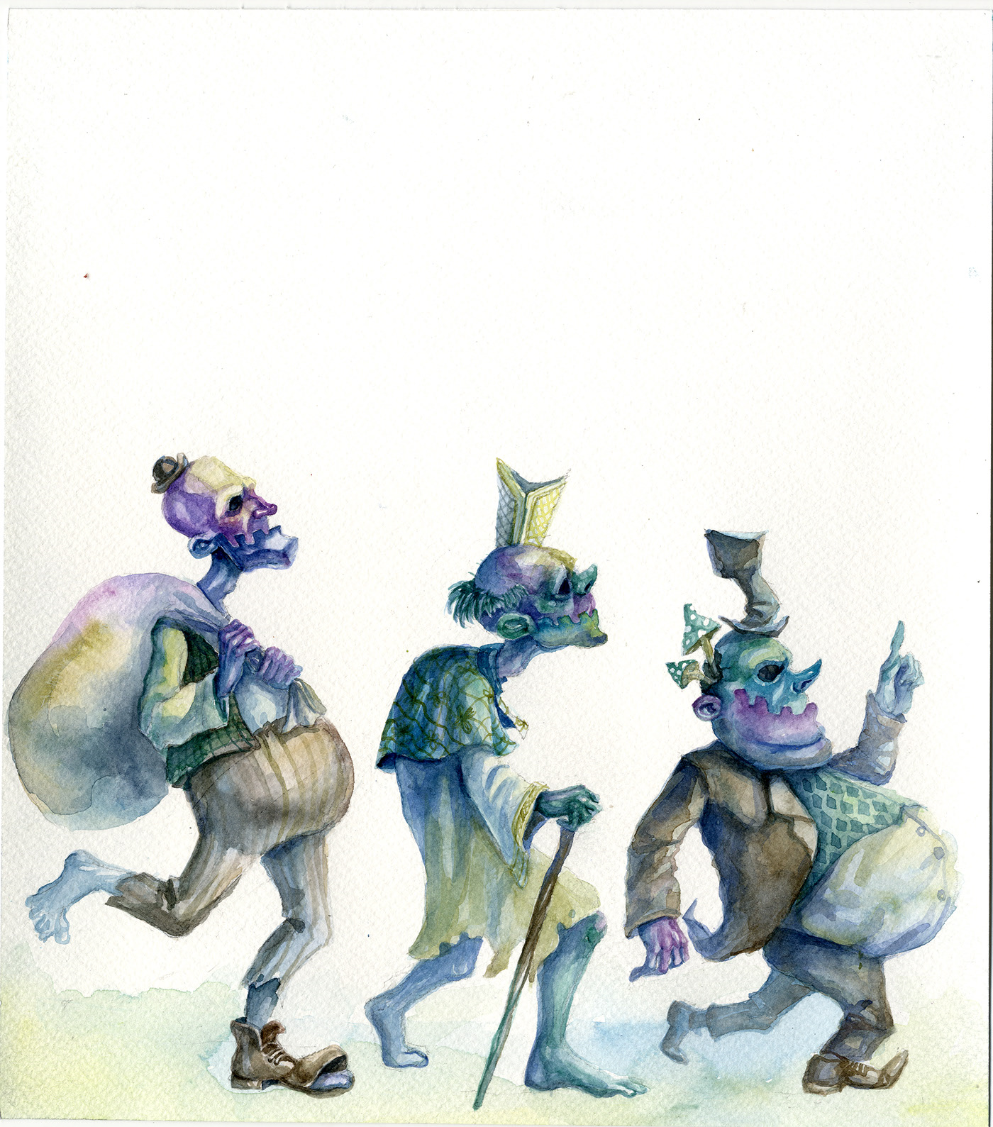 watercolor painting editorial stroll