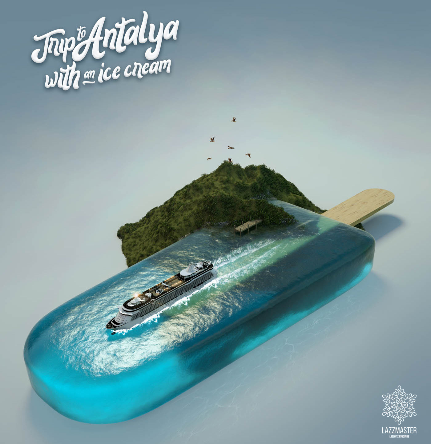 creative advertisment design tour antalya by lazzmaster