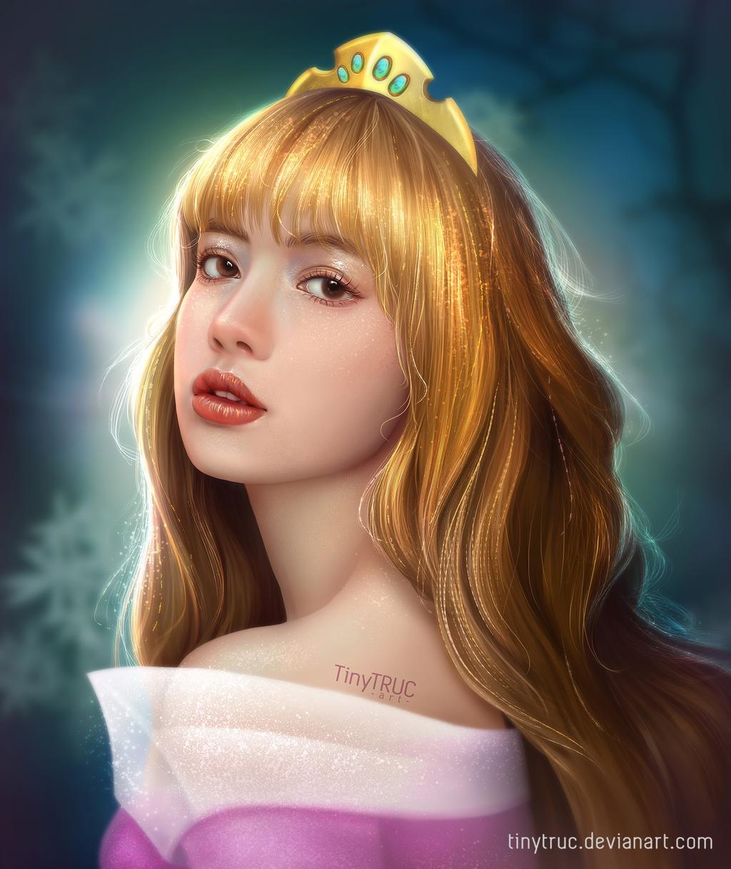 digital painting portrait art lisa by tinytruc