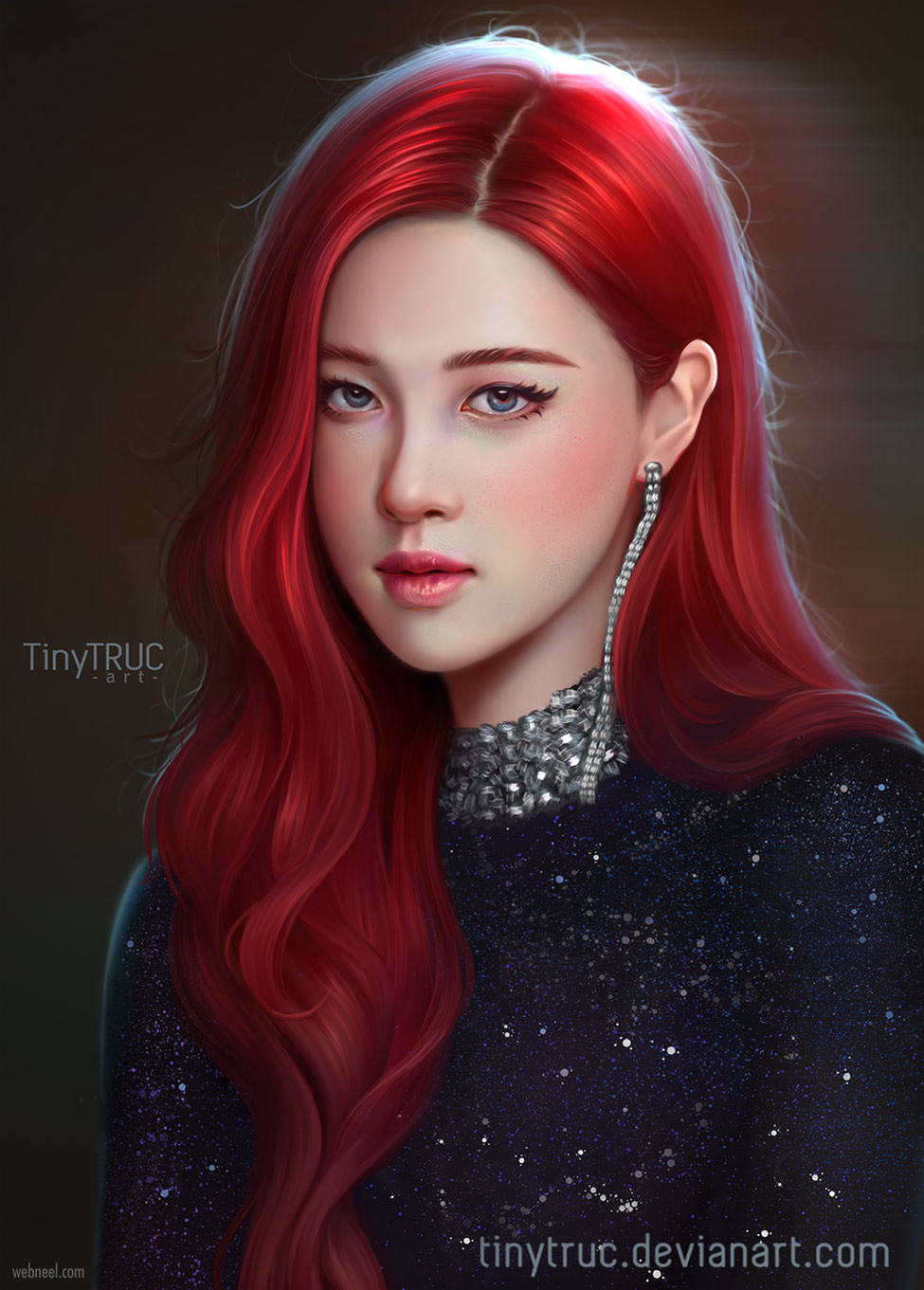 digital painting portrait woman by tinytruc