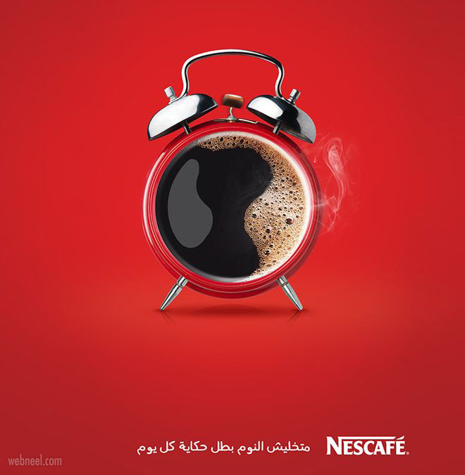 print ads design nescafe coffee by ahmed mahmoudali