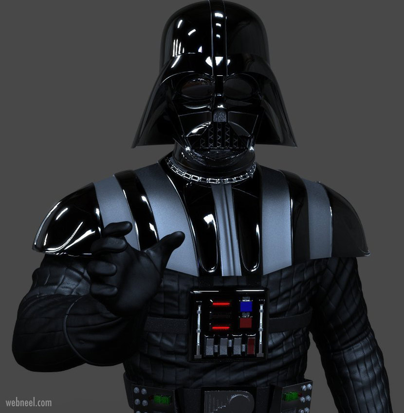 3d model character darth vader