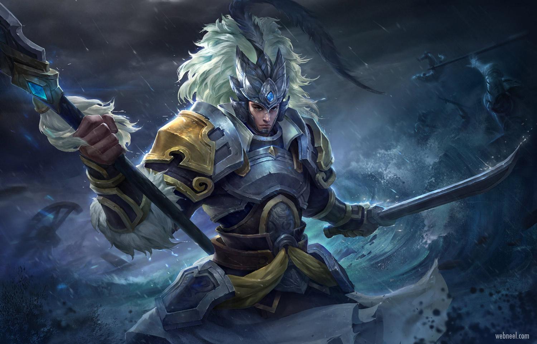3d model character design warrior