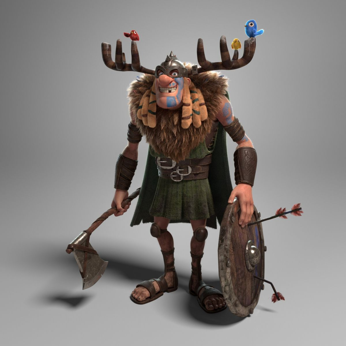 3d model character design warrior