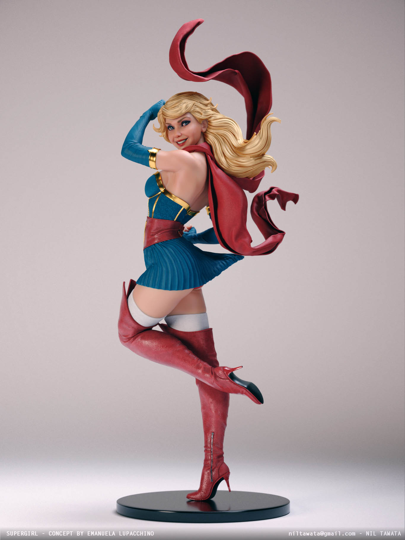 3d model character supergirl