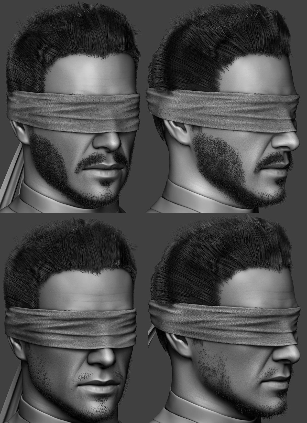 3d modelling man head