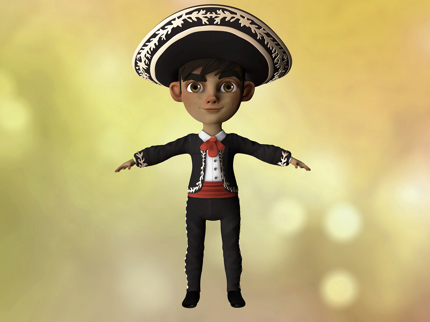 3d model character design little boy