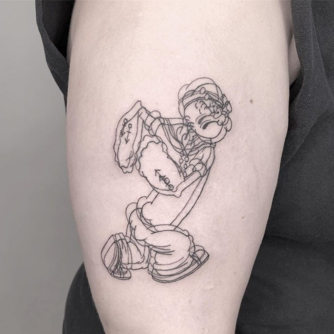 optical illusion tattoo popeye