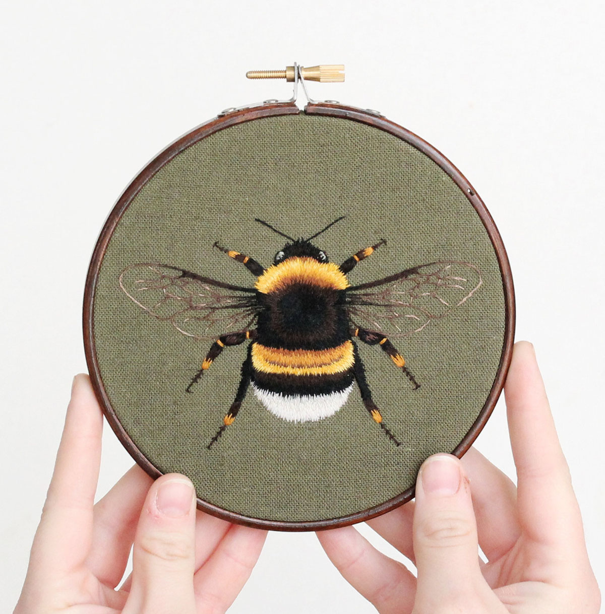 embroidery art fly