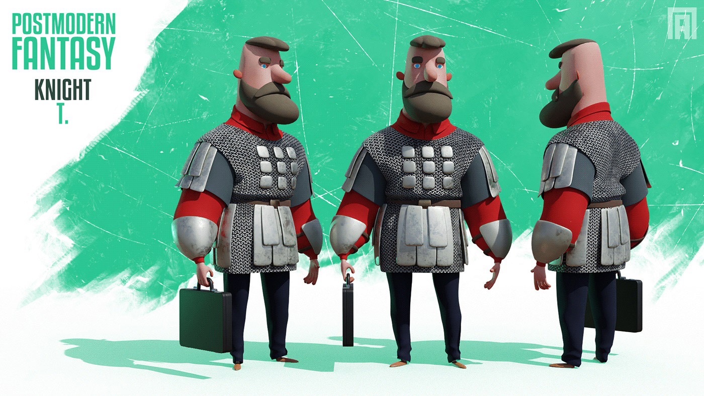 funny cartoon 3d model by viktor pyatkin
