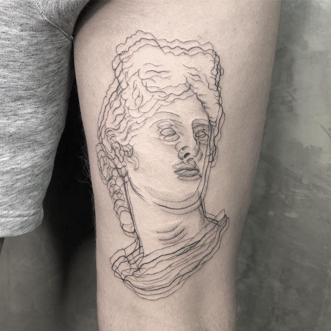 optical illusion tattoo apollo