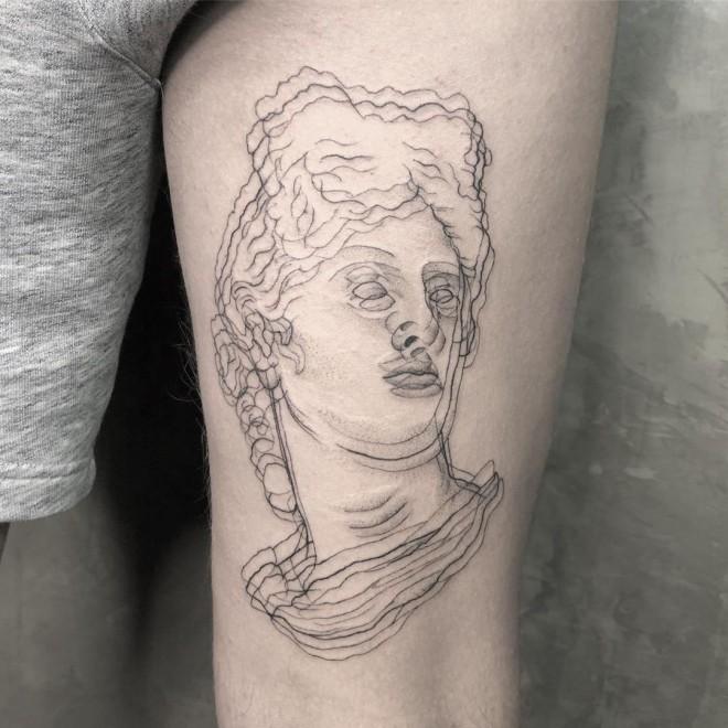 optical illusion tattoo apollo