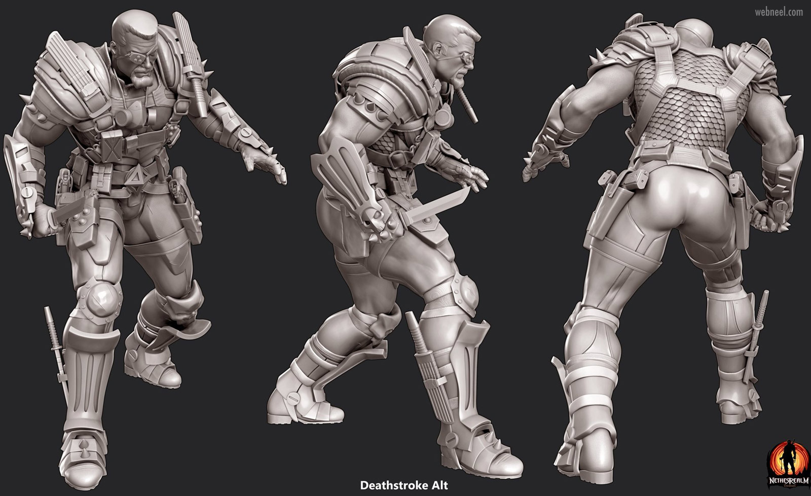 3d game model fighter killer